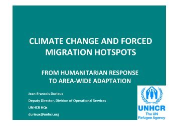 unhcr - Climate Change, Environment and Migration Alliance ...