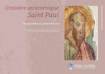 Croisière œcuménique Saint Paul (plaquette pdf) - Terre Entiere