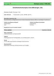 Schieferkohlenkomplex Greit (Menzingen, ZG) - admin.ch