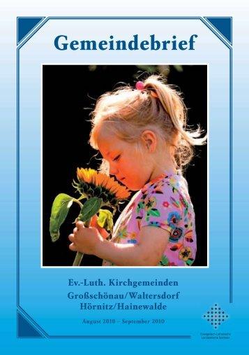 Gemeindebrief August 2010 - Kirche-grossschoenau.de