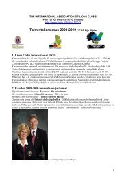 Toimintakertomus 2009-2010 107-G EK - Suomen Lions-liitto ry