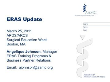 ERAS Update--Angelique Johnson