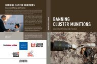 Banning Cluster Munitions: Government Policy and Practice