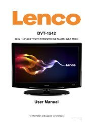 DVT-1542 User Manual - Lenco