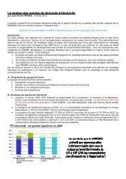 La gestion des pointes de demande d'électricité - SFEN