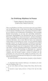Zur Einleitung: Rhythmus im Prozess