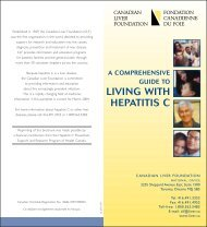 LIVING WITH HEPATITIS C - BC Centre for Disease Control