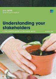 Understanding your stakeholders - Ipsos