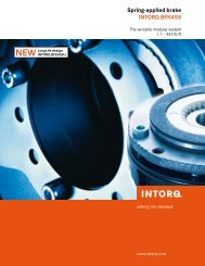 Spring-applied brake INTORQ BFK458 - Chain and Drives Australia