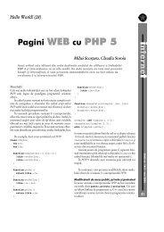 nterne Pagini WEB cu PHP 5 - GInfo