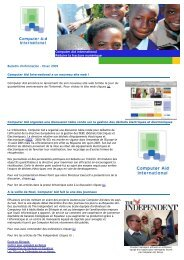 Bulltetin d'information Hiver 2009-2010 - Computer Aid International