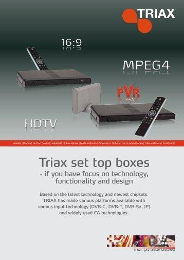 Triax set top boxes