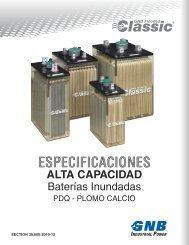 ALTA CAPACIDAD - Exide Technologies