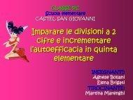 Imparare le divisioni a 2 cifre e aumentar - USP di Piacenza