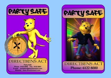 Party Safe Party Safe - Directions ACT