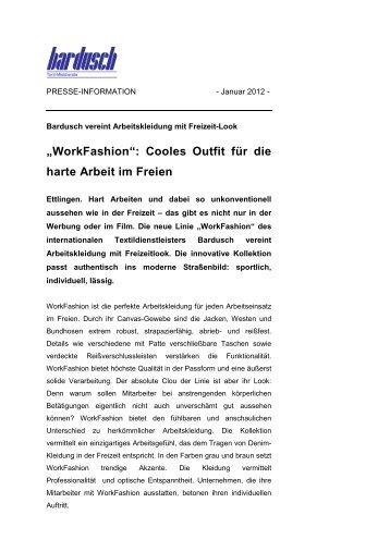 """""""WorkFashion"""": Cooles Outfit für die harte Arbeit im Freien - Bardusch"""
