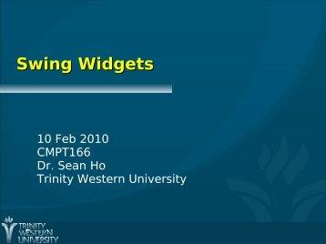 Swing Widgets