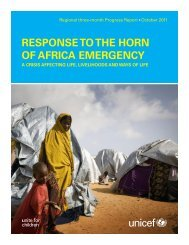 RESPONSE TO THE HORN OF AFRICA EMERGENCY - Unicef
