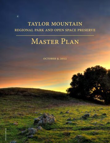Master Plan - Sonoma County Agricultural Preservation and Open ...