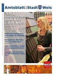 Amtsblatt der Stadt Wels Februar 2011 (5 MB)