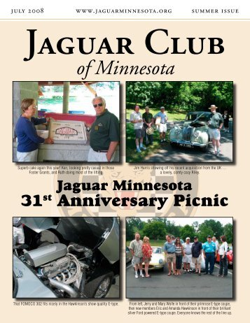 Summer Quarter Newsletter - July, 2008 - Jaguar Club of MN