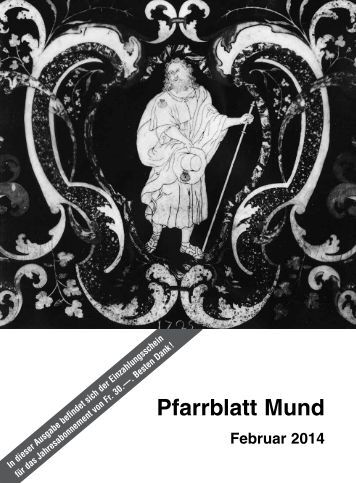 Pfarrblatt Mund - Pfarrei Mund