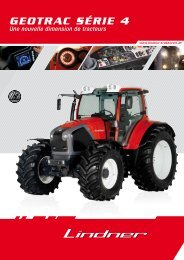 GEOTRAC SÉRIE 4 - Lindner Traktoren