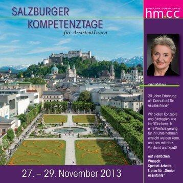 Salzburger Kompetenztage, Salzburg - Heidi Mathias
