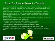 Food for Peace Project - Zambia.pdf - Dairy Sustainability Website
