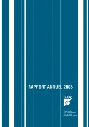 Rapport annuel 2003 - paperJam