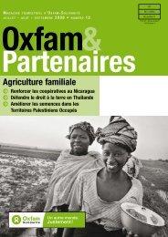 Oxfam & Partenaires 12 - Agriculture familiale
