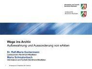 Wege ins Archiv: Aufbewahrung und Aussonderung von eAkten