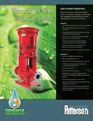 Split Coupled VIL Tech Sheet - Patterson Pump Company