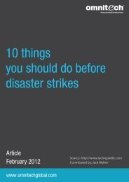 10 things you should do before disaster strikes - Omnitechglobal.com