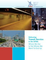 Delivering Transit Service in the GTHA: Where We Are Now ... - rccao