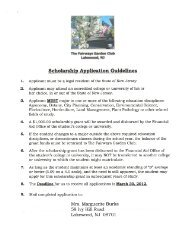 Scholarship Application Guidelines