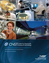 The NIST Center for Nanoscale Science and Technology - FLC Mid ...