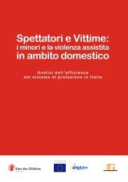 Spettatori e Vittime: - Save the Children Italia Onlus