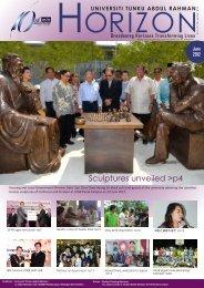 Sculptures unveiled >p4 - Universiti Tunku Abdul Rahman