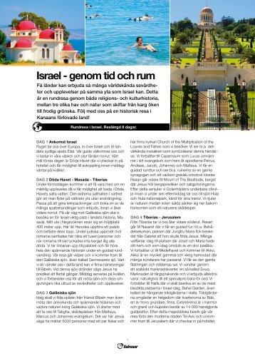 Israel - genom tid och rum - Solresor