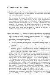 C.T.F. COMPITO C DEL 11-01-08 1) Descrivere la molecola di ...