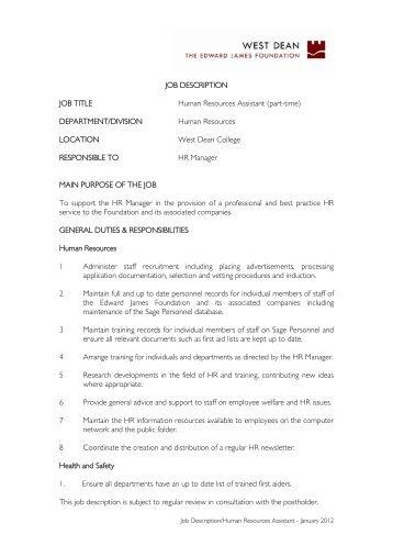 nice hr director job description images human resources job