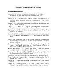 Bibliografia Psicologia Organizacional e do Trabalho - Conselho ...