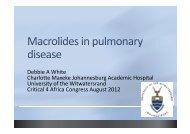 Debbie White Macrolide use in pulmonary disease