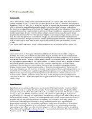 NetVUE Consultant Profiles - Carter Aiken, Julie Massey, Bill Millard ...
