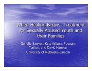 When Healing Begins: Treatment for Sexually Abused ... - Psychology