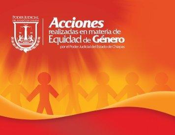 Acciones realizadas en materia de Equidad de Género por el Poder ...