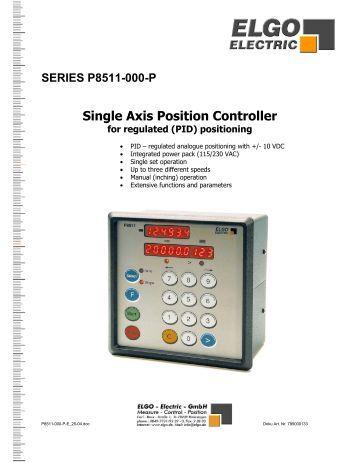 P8511 000 R Elgo Electric Gmbh