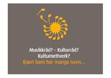 Musikkråd - kulturråd - Norsk musikkråd