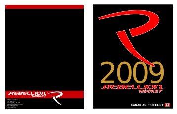 Rebellion Catalogue April 2009 - Hockey2K